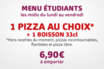 Menu étudiants